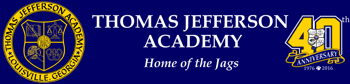 Thomas Jefferson Academy - Home of the Jags - Louisville, GA Logo